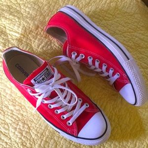 Converse All Star Unisex Red Shoes size M8.5/W10.5